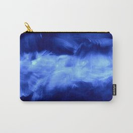 Ultraviolet Purple Lavender White Abstract Brush Strokes Carry-All Pouch