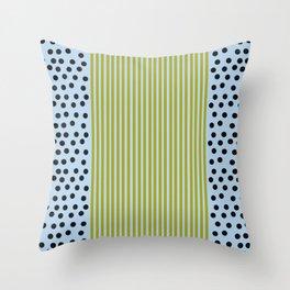 The Blueberry Stripe Blues  Throw Pillow