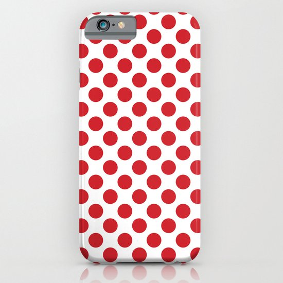 White and red polka dots iPhone & iPod Case