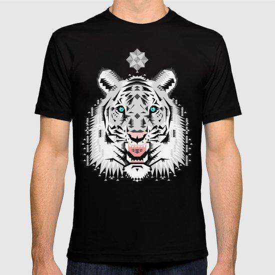Silver Geometric Tiger T-shirt