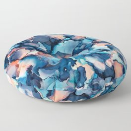 Alcohol Ink Painting 1 Floor Pillow