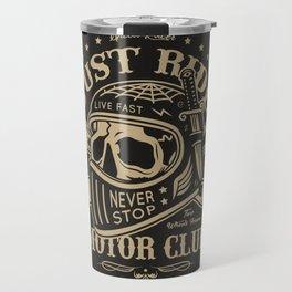 Motorcycle Club Helmet Illustration Travel Mug