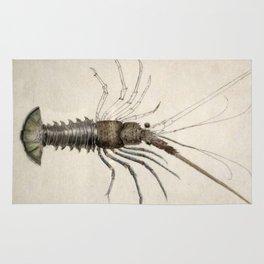 Vintage Lobster Artwork Rug