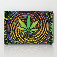 weed iPad Cases featuring Weed Vortex by Prism Code
