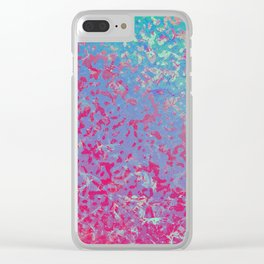 Colorful Corroded Background G284 Clear iPhone Case