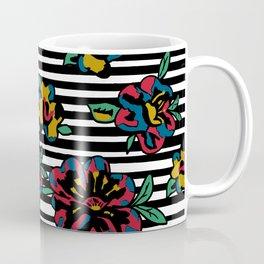Stiped floral Coffee Mug