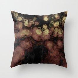 Bokeh repaint Throw Pillow