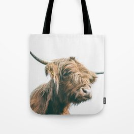 Majestic Highland cow portrait Tote Bag