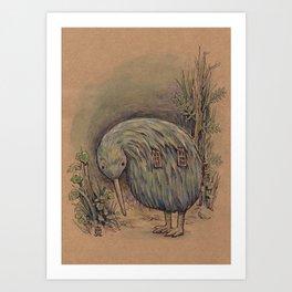 Kiwi House Art Print