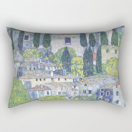 Gustav Klimt Church in Cassone Rectangular Pillow