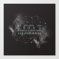 fault in our stars Canvas Prints featuring THE FAULT IN OUR STARS by Danielle Ebro