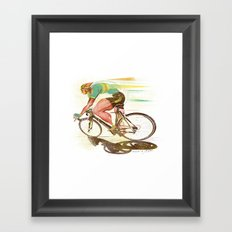 The Sprinter, Cycling Edition Framed Art Print