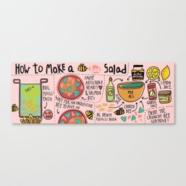 Bee Salad Canvas Print