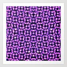 Purple Garden Maze Art Print