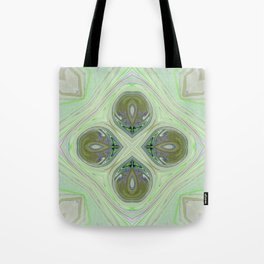 Minty Green and Pearl Diamond Abstract Tote Bag