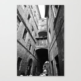 Street in Siena, Italy Canvas Print
