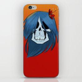 Flower Skull in Color iPhone Skin