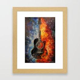 The rhythms of the guitar Framed Art Print