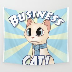 Business Cat! Wall Tapestry