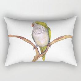 Quaker parrot in watercolor Rectangular Pillow