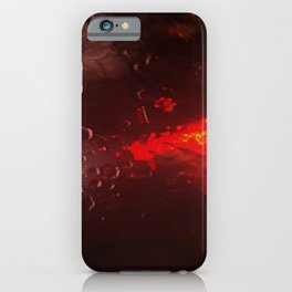 Abstract Red Rain iPhone Case