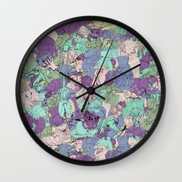 Crawlies party Wall Clock