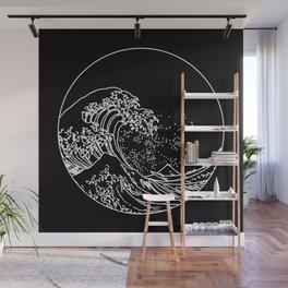 The Great Minimal Wave at Night Wall Mural