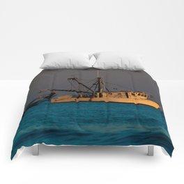 Tucker J fishing boat Comforters