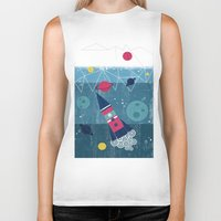spaceship Biker Tanks featuring Spaceship by Kakel