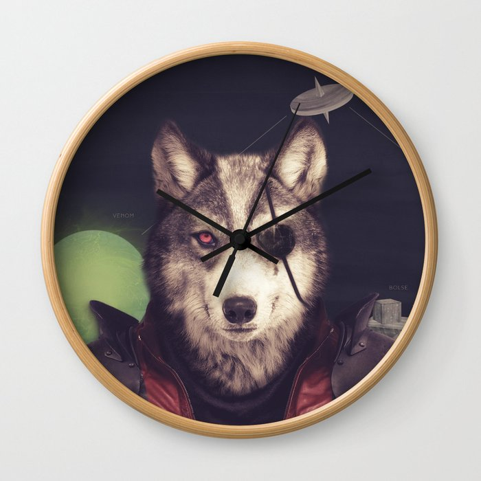 Star Team - Wolf Wall Clock