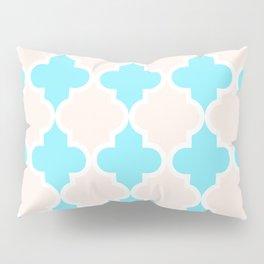 Quatrefoil - cream and arctic Pillow Sham