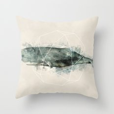 Geo Whale Throw Pillow
