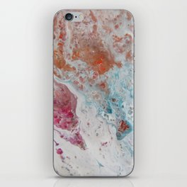 WHITE WASH | Fluid abstract art by Natalie Burnett Art iPhone Skin