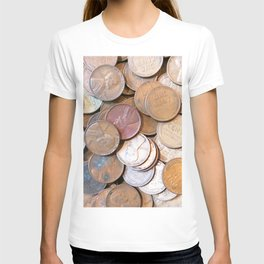 Watercolor Coins, Lincoln Wheat Pennies, 1939 03 T-shirt
