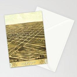 Bird's Eye View of Newton, Jasper County, Iowa (1868) Stationery Cards