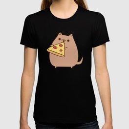 Pupsheen Eating Pizza T-shirt