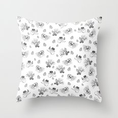 Pet Fish - White print Throw Pillow