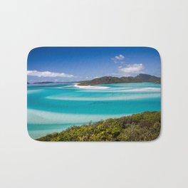 Blue Paradise Whitehaven Beach the Whitsunday Islands Bath Mat