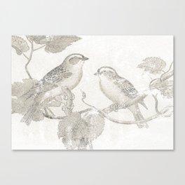 2 LITTLE BIRDS  Canvas Print