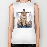 cincinnati Biker Tanks featuring Cincinnati Bengal Tiger by The Groundbird