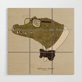 Spectacle(d) Caiman Wood Wall Art