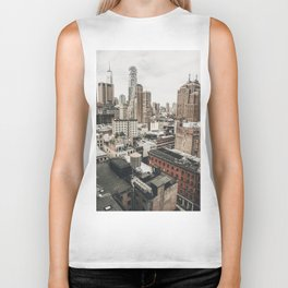 New York City View Biker Tank