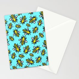 Honey Bee Swarm Stationery Cards