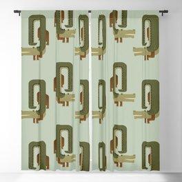 Whimsy Crocodile Blackout Curtain