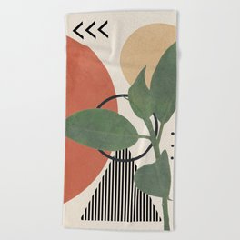 Nature Geometry III Beach Towel