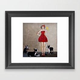 The Dog Sitter Framed Art Print