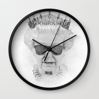 queen Wall Clocks featuring QUEEN by Pirates Office