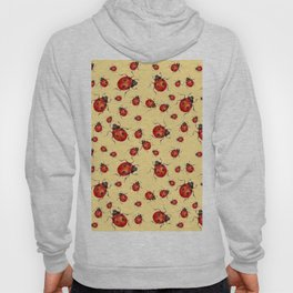 """""""I LOVE RED LADY BUGS"""" ON CREAM COLOR Hoody"""