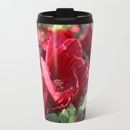 Glorious Giant Red Hibiscus Travel Mug