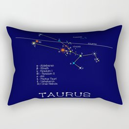 Zodiac Constellation Taurus. Real Color Of The Stars Rectangular Pillow